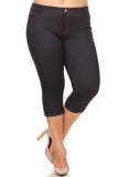 high waisted plus size capri leggings
