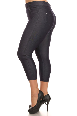 Wendy Seamless Capri Leggings Available In Plus Size