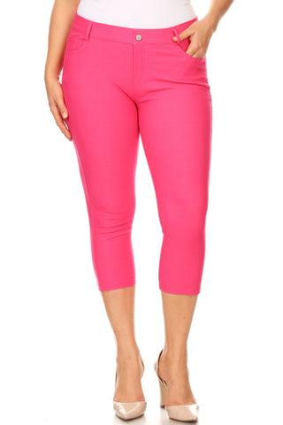 Plus Size Nelly Classic 5 Pocket Capri Jegging