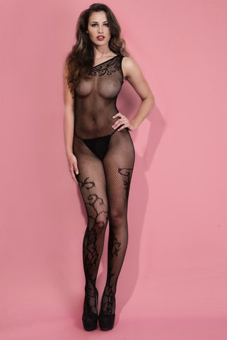 Love & Lace High Neck Back Detail Body Stocking/Suit- Regular And Queen Size