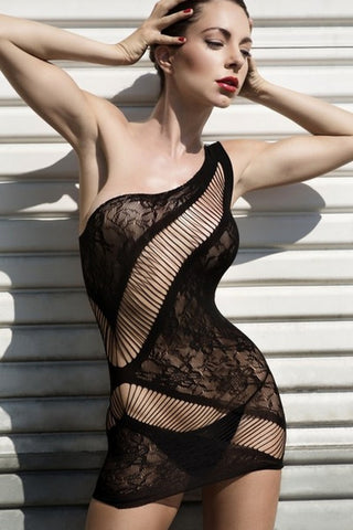 Lovin' On Me One Shoulder Bodystocking Dress