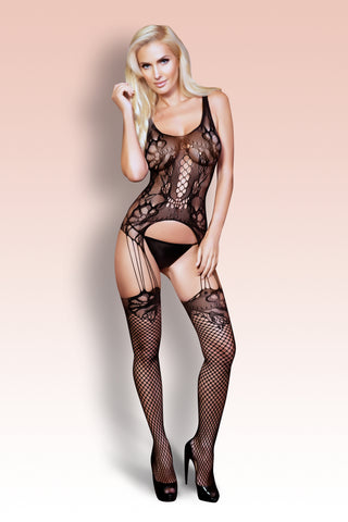 Valentine Lace Halter Fishnet Bodystocking