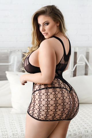 Plus Size Feeling Playful Strappy Bodystocking