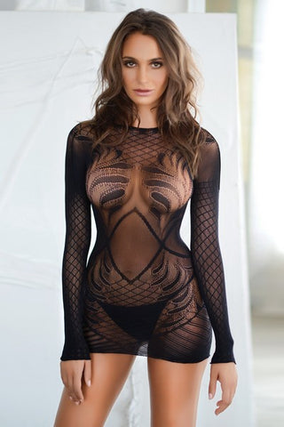 Sheer Dreams Lace Dress Body Stocking