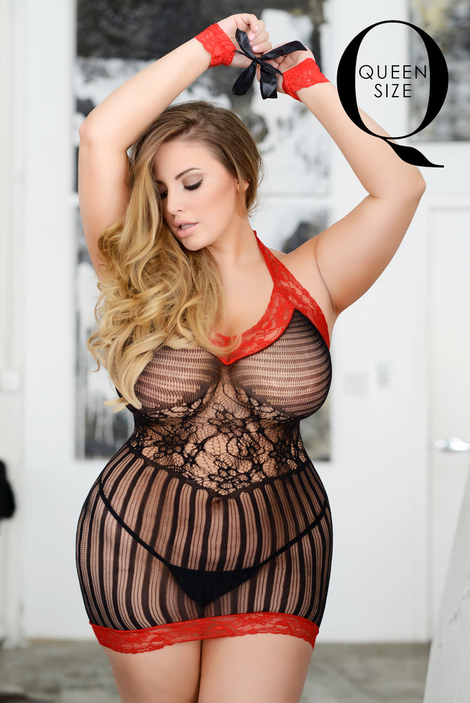 red lace lingerie for plus size women