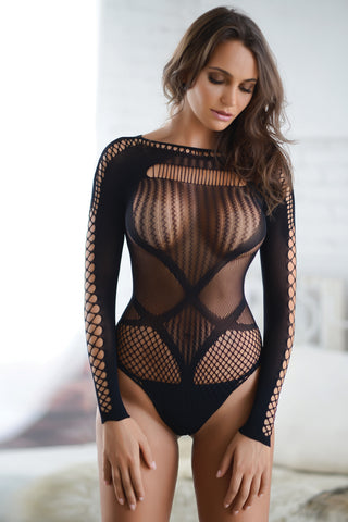 Honeycomb Mesh Fishnet Body Stocking