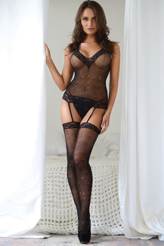 Dainty and Divine Lace Garter Bodystocking