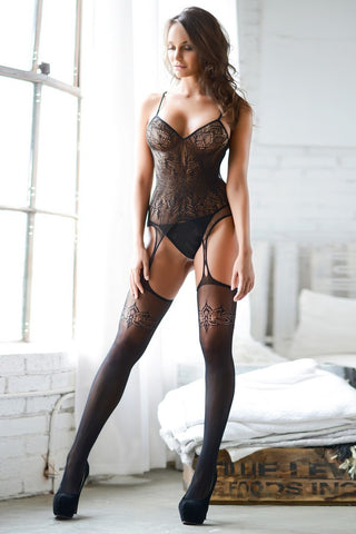 Dark Places Fishnet Lace Bodystocking