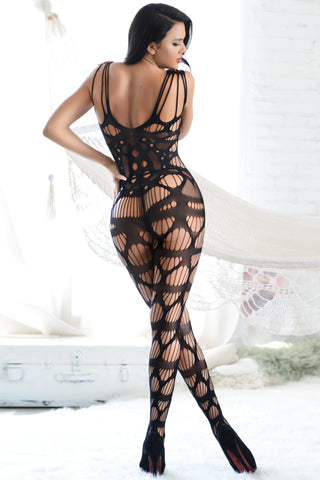 Hot Nights Cutout Fishnet Bodystocking
