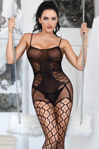 Total Seduction Bustier Fishnet Bodystocking