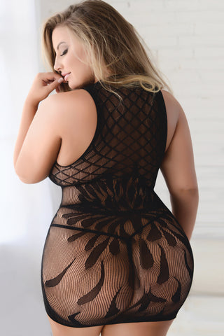 Plus Size Romance Is Alive Fishnet Bodystocking