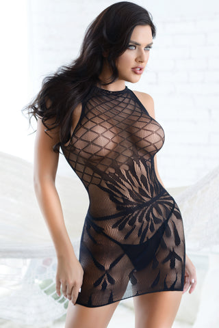 Romance Is Alive Fishnet Bodystocking