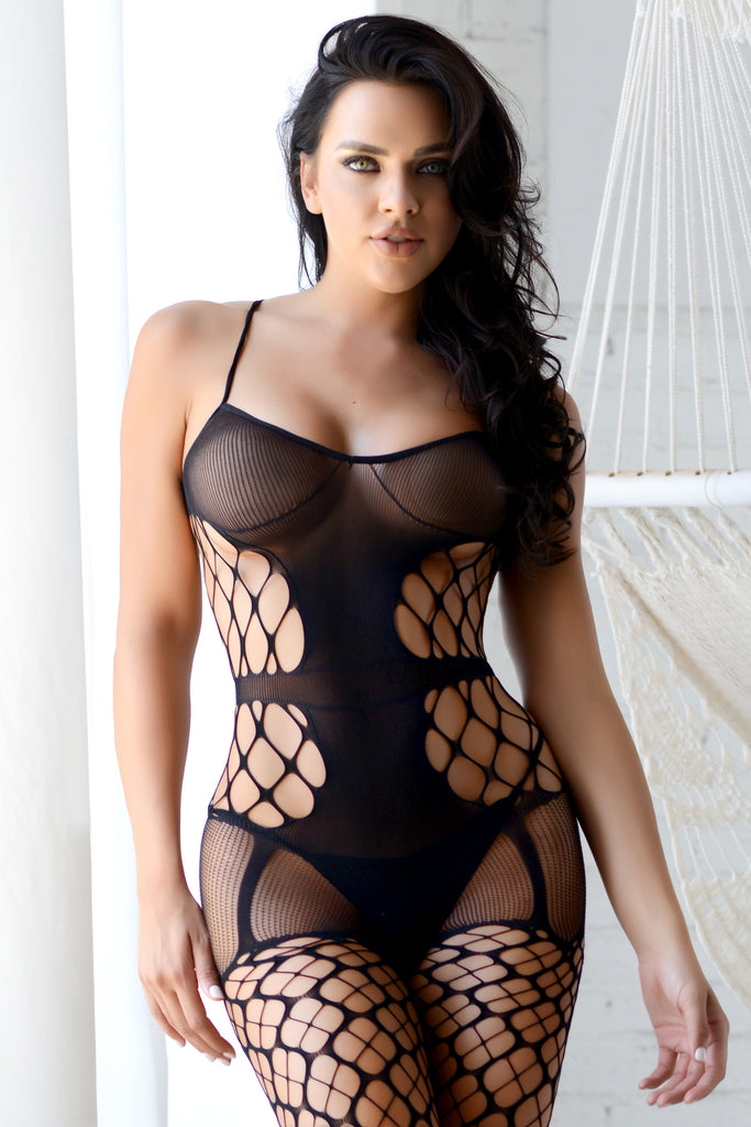black fishnet bodystockings for wife