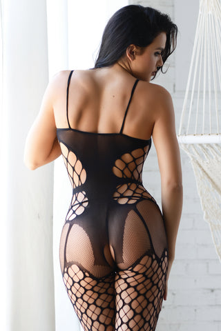 Loved You In Secret Fishnet Bodystocking