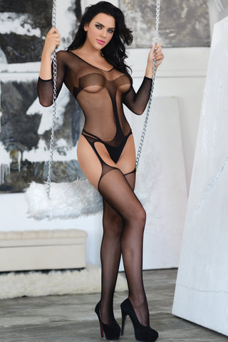 In Control Fishnet Bodystuit Bodystocking