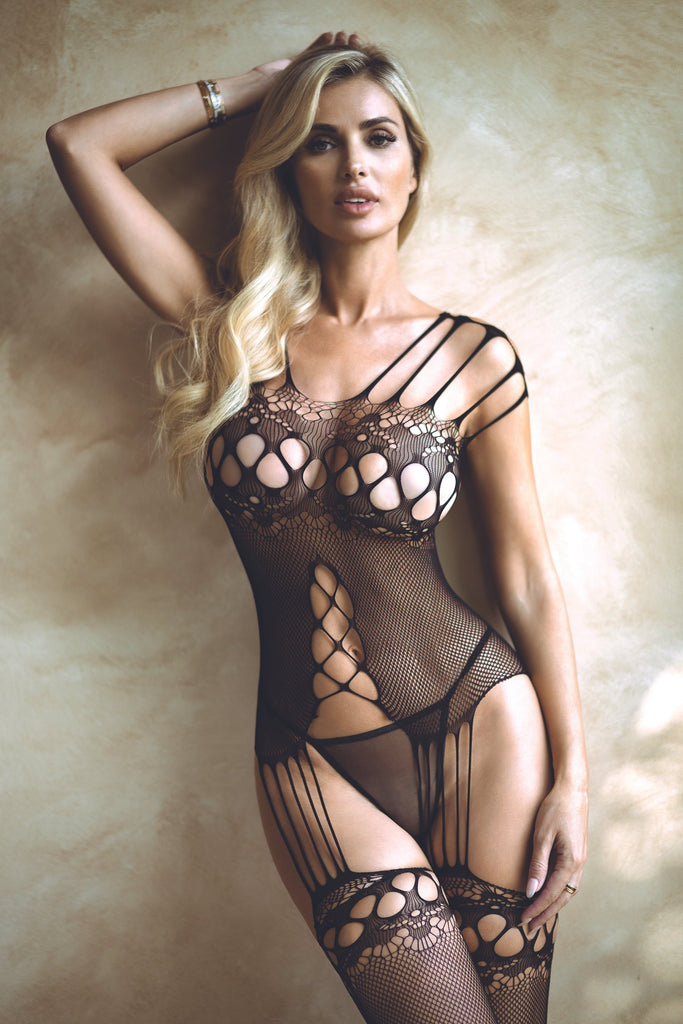 black lingerie suits for women