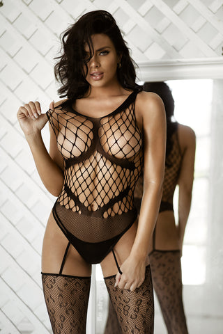 Sensual Revenge Fishnet Teddy Bodystocking
