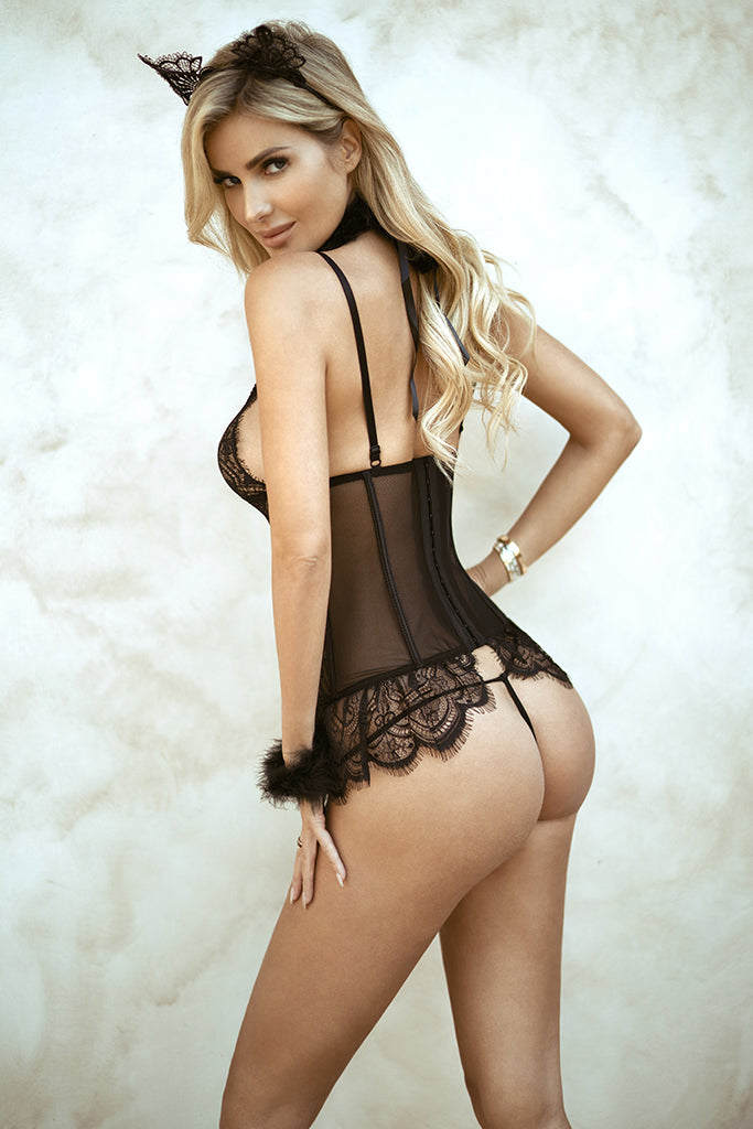 Smitten Kitten Sultry Sheer Lingerie Set