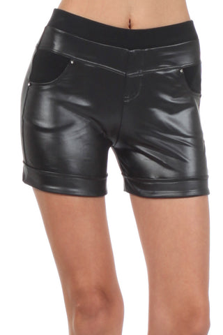Gemma Faux Leather Short