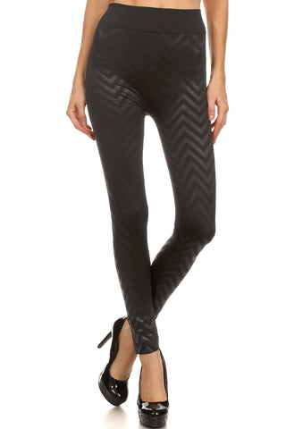 Chevron Textured Leggings