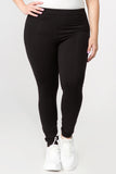 black cotton leggings plus size