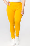 yellow plus size leggings