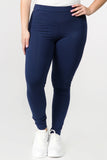 plus size navy cotton leggings