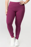 plum high waisted cotton leggings