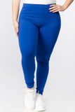 blue plus size cotton legging