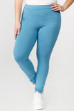 blue high rise cotton legging