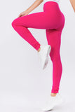 fuchsia straight leggings