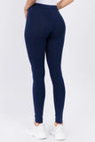 blue cotton yoga leggings