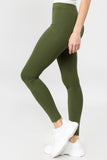 green high waisted leggings