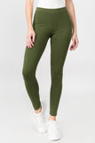 olive cotton leggings