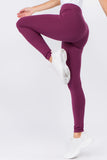 purple cotton legging