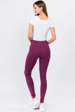purple high waisted legging