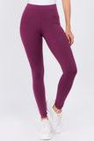 purple cotton leggings