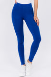 royal blue cotton leggings
