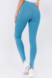 slate blue cotton leggings