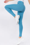 blue high rise leggings