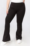 black plus size yoga pants