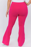 pink cotton leggings plus size