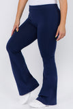 navy high waist cotton yoga pants