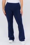 dark blue cotton yoga pants plus size