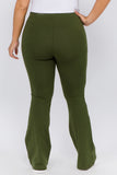 army green plus size pants