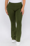 olive plus size yoga pants