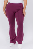 purple cotton yoga pants