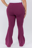 plum high waisted cotton pants