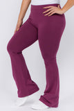 purple yoga pants for plus size