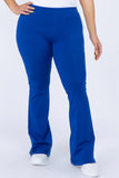 royal blue plus size yoga pants